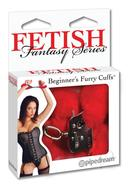 Fetish Fantasy Series Beginners Furry Cuffs Red