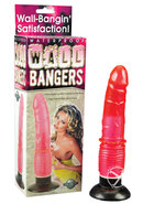 Wall Bangers Suction Dong Waterproof 8.5 Inch Pink