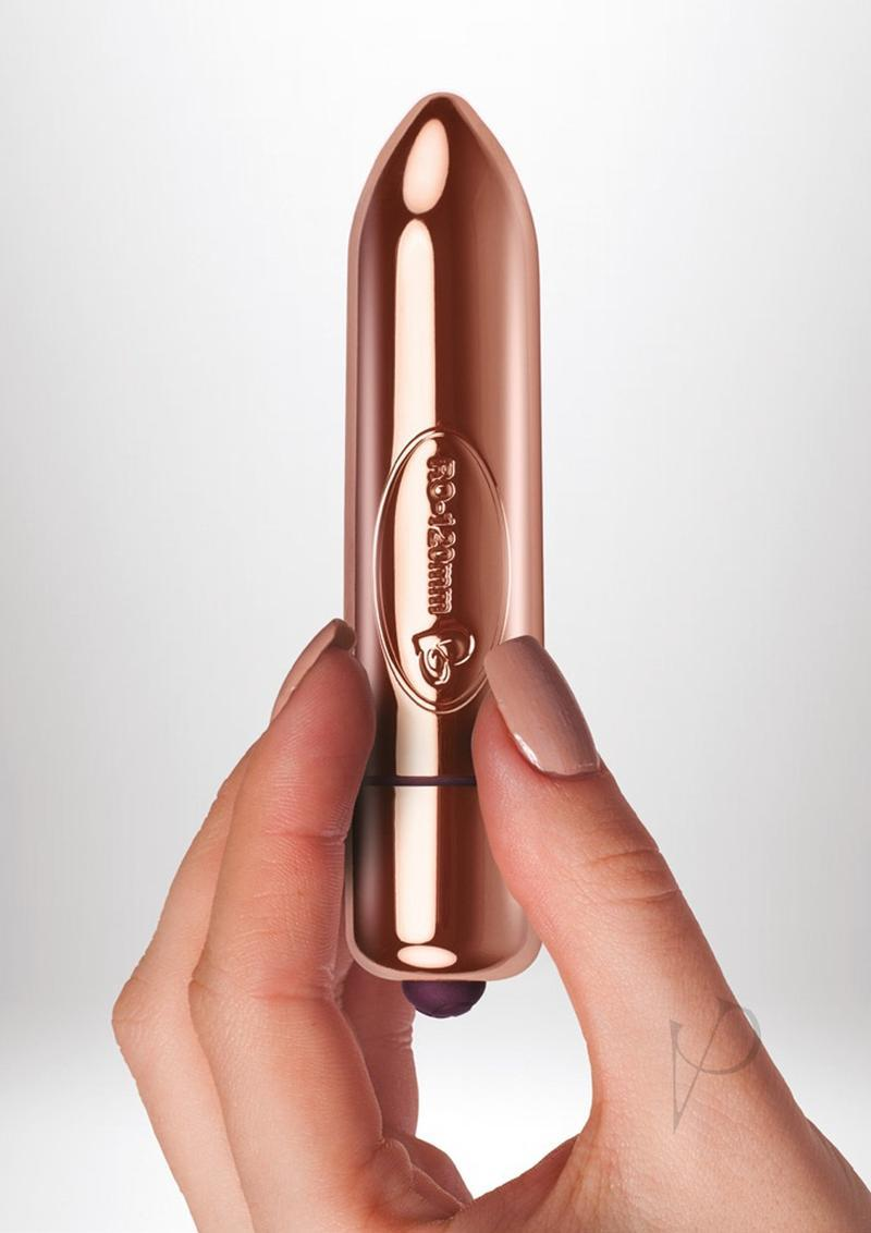 Ro-120mm Ammo L`amour 10 Speed Vibrator Waterproof Rose Gold 4.7 Inch